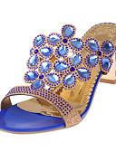 preiswerte Modische Uhren-Damen Schuhe PU Sommer Fersenriemen Sandalen Blockabsatz Schwarz / Hellblau / Königsblau