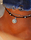 cheap Evening Dresses-Layered Anklet - Sun Vintage, Bohemian, Tropical Silver For Gift / Bikini
