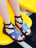 cheap Women's Dresses-Girls' Shoes Synthetic Microfiber PU Spring / Summer Flower Girl Shoes Sandals for Kid's Black / Silver / Blue