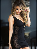 cheap Women's Swimwear & Bikinis-Women's Babydoll & Slips Nightwear - Lace, Jacquard