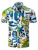 cheap Men's Shirts-Men's Basic Shirt - Geometric Color Block Print