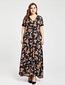 baratos Vestidos Femininos-Mulheres Tamanhos Grandes Boho balanço Vestido Floral Decote V Cintura Alta Longo