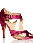 ieftine Bluză-Pentru femei Pantofi Dans Latin Satin / Catifea Adidași Flori din Satin Subțire superioară Pantofi de dans Negru / Mov / Antrenament