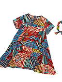 preiswerte Hosen & Leggings für Mädchen-Kinder Mädchen Geometrisch Kurzarm Kleid