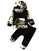 זול לבנים סטים של ביגוד לתינוקות-סט של בגדים כותנה ארוך שרוול ארוך דפוס פעיל בנים תִינוֹק / פעוטות