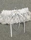cheap Wedding Veils-Chiffon Satin / Lace Classic Jewelry / Vintage Style Wedding Garter 617 Rhinestone / Ruffle Garters Wedding / Party & Evening