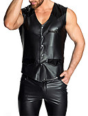 cheap Men's Tees & Tank Tops-Men's Sexy Suits Nightwear Solid Colored