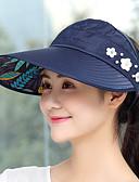 זול כובעים אופנתיים-כתרים קיץ קיפול נייד / עמיד UV / נשימה צעידה / פעילות חוץ / לטייל בגדי ריקוד נשים פוליאסטר / כותנה אחיד