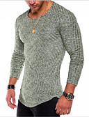 cheap Men's Hoodies & Sweatshirts-Men's Basic T-shirt - Solid Colored