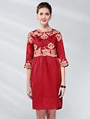 זול שמלות נשים-מעל הברך אחיד / פרחוני - שמלה ישרה בגדי ריקוד נשים