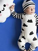 halpa Uusimmat Pojat haalariasut-Vauva Tyttöjen Aktiivinen Painettu Pitkähihainen Puuvilla Yksiosaiset Valkoinen