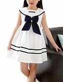 זול שמלות לילדות פרחים-שמלה ללא שרוולים קולור בלוק מתוק בנות ילדים