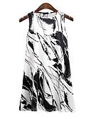 povoljno Mini suknje-Žene Osnovni / Ulični šik Pamuk Hlače - Geometrijski oblici Print Visoki struk Obala