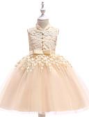 tanie Print Dresses-Dzieci Dla dziewczynek Aktywny / Podstawowy Impreza Jendolity kolor Bez rękawów Do kolan Sukienka / Bawełna