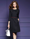 cheap Women's Dresses-SHIHUATANG Women's Holiday / Work Slim Sheath Dress - Striped / Spring