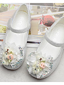 cheap Girls' Clothing-Girls' Shoes Tulle Spring Comfort / Flower Girl Shoes Flats for White / Pink