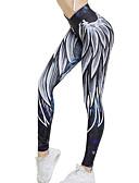 ieftine Bluză-Pentru femei Pantaloni de yoga - Albastru / Alb Sport Grafic Dresuri Ciclism / Leggings Alergat, Fitness, Sală de Fitness Îmbrăcăminte de Sport  Respirabil, Uscare rapidă Strech