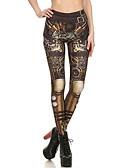 cheap Leggings-Women's Metallic / Sporty Legging - Tribal, Print High Waist
