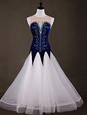 hesapli Gece Elbiseleri-Balo Dansı Elbiseler Kadın's Eğitim Naylon / Organze / Tül Kristaller / Yapay Elmaslar Kolsuz Yüksek Elbise