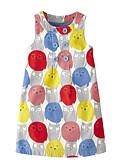 tanie Sukienki dla dziewczynek-Dzieci Dla dziewczynek Aktywny Codzienny Kolorowy blok Nadruk Bez rękawów Nad kolano Bawełna / Poliester Sukienka Szary 110