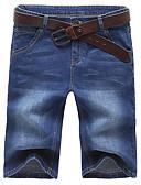cheap Men's Hoodies & Sweatshirts-Men's Plus Size Cotton / Polyester Slim Jeans / Shorts Pants - Solid Colored / Weekend