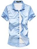 זול חולצות לגברים-משובץ בסיסי חולצה - בגדי ריקוד גברים