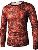 povoljno Muško egzotično rublje-Majica s rukavima Muškarci - Punk & Gotika Dnevno Cvjetni print Print