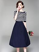 זול חליפות שני חלקים לנשים-חצאית קולור בלוק - סט ליציאה / עבודה בגדי ריקוד נשים