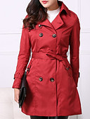 cheap Women's Scarves-Women's Basic Trench Coat - Solid Colored