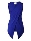 ieftine Bluze & Camisole Femei-Pentru femei În V / Rotund Tank Tops Zilnic / Ieșire Bumbac / Poliester / Nailon Mată / Vară / Zvelt