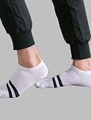 abordables Ropa Interior y Calcetines de Hombre-Hombre Calcetines Cortos Medio - A Rayas