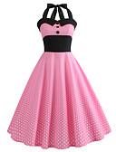 cheap Socks & Hosiery-Women's Vintage Swing Dress - Polka Dot Print