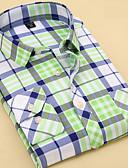 abordables Trajes-Hombre Básico Camisa A Rayas / Geométrico