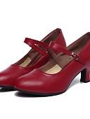 abordables Abrigos de pieles y de piel sintético de mujer-Mujer Zapatos de Baile Moderno Cuero Tacones Alto Tacón Personalizado Personalizables Zapatos de baile Negro / Rojo Oscuro / Interior