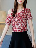 ieftine Bluză-Pentru femei Bateau Bluză Ieșire Floral