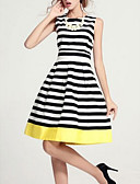 cheap Women's Nightwear-Women's Simple Slim Sheath Dress - Striped / Summer