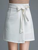 cheap Women's Skirts-Women's Chinoiserie A Line Skirts - Striped / Houndstooth Split High Waist