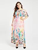 abordables Vestidos de Mujeres-Mujer Tallas Grandes Boho Corte Swing Vestido Floral Alta cintura Maxi