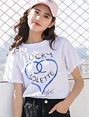 povoljno Majica s rukavima-Majica s rukavima Žene - Aktivan / Osnovni Dnevno / Vikend Jednobojni Print Blue & White / Ljeto