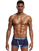 baratos Roupas Íntimas e Meias Masculinas-Homens Cueca Boxer Sólido Cintura Baixa