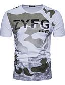 povoljno Muške košulje-Majica s rukavima Muškarci - Aktivan / Osnovni Dnevno / Praznik Geometrijski oblici / Slovo