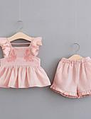 levne Dámské šaty-Toddler Dívčí Jednobarevné / Žakár Bez rukávů Sady oblečení