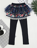 preiswerte Hosen & Leggings für Mädchen-Mädchen Hose Stickerei Baumwolle Herbst Ganzjährig Zum Kleid Spitze Rosa Marineblau