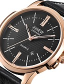 cheap Leather Band Watches-Men's Wrist Watch Chinese Calendar / date / day Leather Band Casual Black / Brown / Khaki / Stainless Steel / SSUO SR626SW
