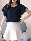 cheap Women's Blouses-Women's Basic Cotton Blouse - Solid Colored / Summer