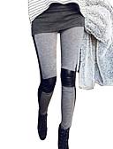 abordables Camisetas para Mujer-Mujer Sexy Encaje de costura / Poliuretano Legging - Retazos Media cintura / Pitillo