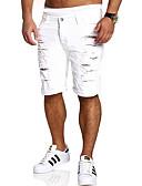 ieftine Pantaloni Bărbați si Pantaloni Scurți-Bărbați De Bază Pantaloni Scurți / Blugi Pantaloni Mată