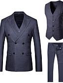 זול חולצות לגברים-פסים דש קלאסי רזה עסקים מקרית חליפות-בגדי ריקוד גברים / אנא בחר\י מידה אחת גדולה יותר מהמידה הנורמלית שלך. / שרוול ארוך