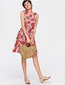 baratos Chapéus de Moda-Mulheres Bolsas Palha Tote Vazados Khaki
