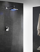 cheap Wedding Veils-Shower Faucet - Contemporary Chrome Wall Mounted Ceramic Valve / Brass / Single Handle Two Holes